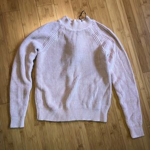 pink h&m sweater w/ zippered back